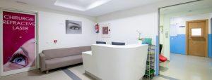 Entrée bloc opératoire clinique de la vision de Rabat